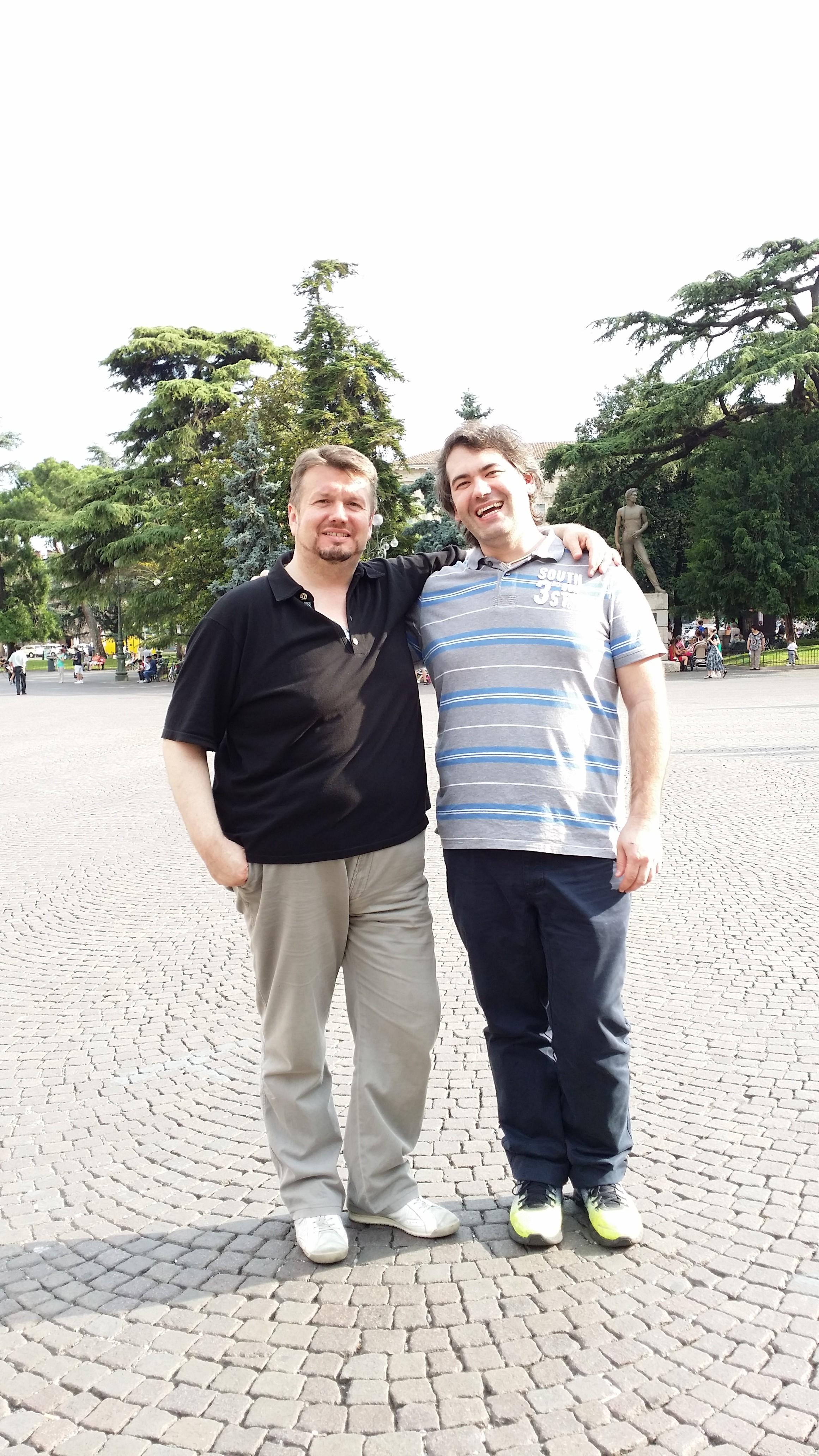 Una foto con Federico Longhi a Verona
